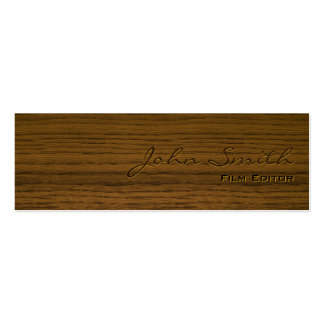 Mini Dark Wood Film Editor Business Card