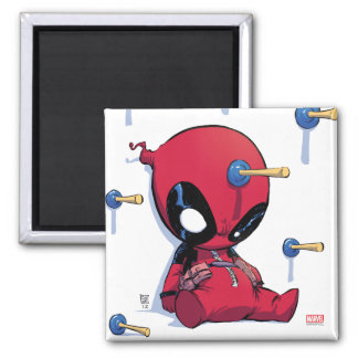 Mini Deadpool Suction Cup Darts Magnet