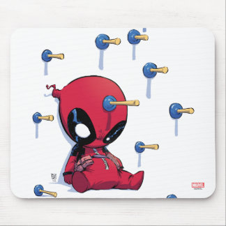 Mini Deadpool Suction Cup Darts Mouse Pad