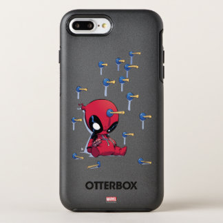 Mini Deadpool Suction Cup Darts OtterBox Symmetry iPhone 7 Plus Case
