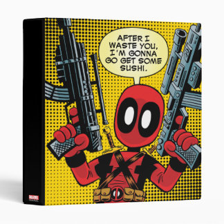 Mini Deadpool With Guns 3 Ring Binders