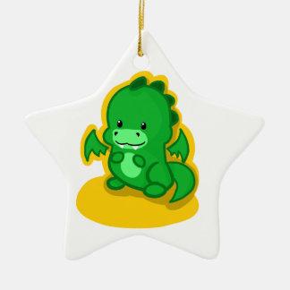 Mini Dragon Ceramic Star Ornament