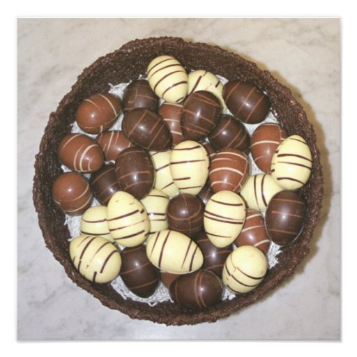 Mini Easter eggs in chocolate nest Photograph