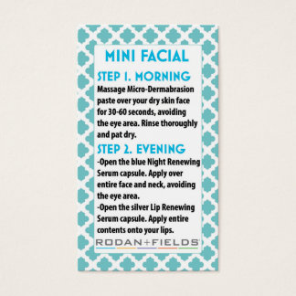 Mini Face R +F card- Rodan + Face Fields Business Card