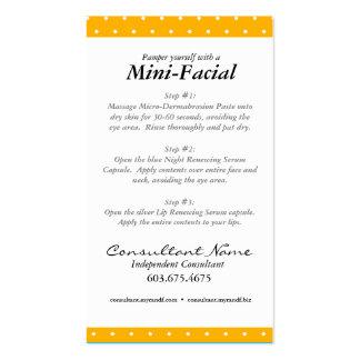 Mini Facial Instruction Card Business Card