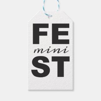 mini feminist gift tags