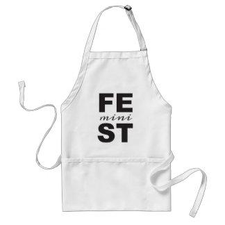 mini feminist standard apron