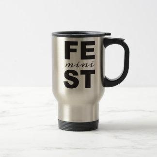 mini feminist travel mug