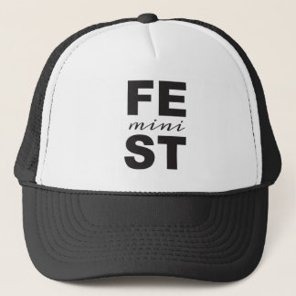 mini feminist trucker hat