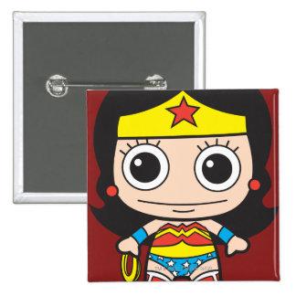 Mini femme de merveille macaron carré 5 cm