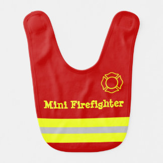 Mini Firefighter Baby Bib