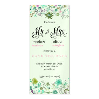 Mini Flowers Save the Date Wedding Invite