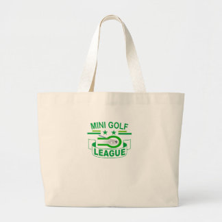 Mini Golf LEAGUE ' Large Tote Bag