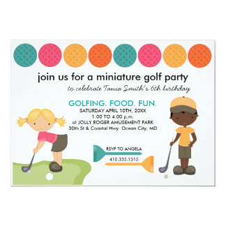Mini Golf Special Request Invites