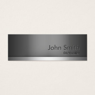 Mini Gray Metal DJ Music Business Card