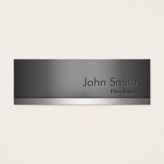 Mini Gray Metal Film Editor Business Card