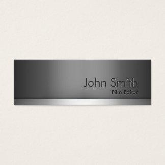 Mini Gray Metal Film Editor Business Card
