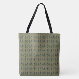 Mini Green Flip Flop Pattern Tote Bag