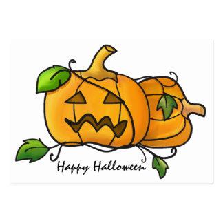 Mini halloween pumpkins Card Large Business Card