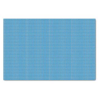 Mini Harlequin Diamonds | Blue Silver Tissue Paper