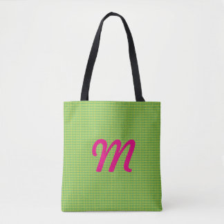 Mini Harlequin Diamonds | Green Tote Bag
