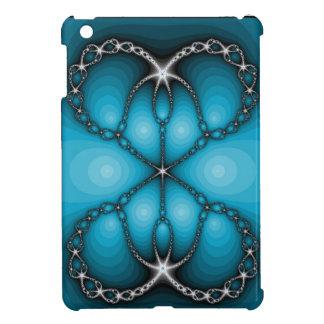 Mini Ipad Case Blue Jewels Fractal