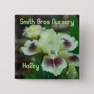 Mini Iris Button-Badge 2 Inch Square Button