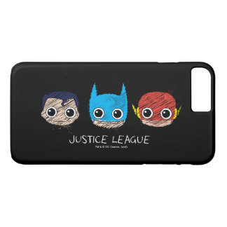 Mini Justice League Heads Sketch iPhone 7 Plus Case