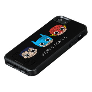 Mini Justice League Heads Sketch OtterBox iPhone 5/5s/SE Case