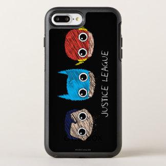Mini Justice League Heads Sketch OtterBox Symmetry iPhone 7 Plus Case