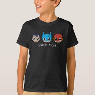 Mini Justice League Heads Sketch T-Shirt