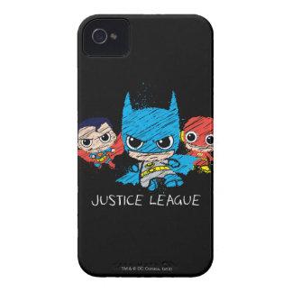 Mini Justice League Sketch iPhone 4 Case