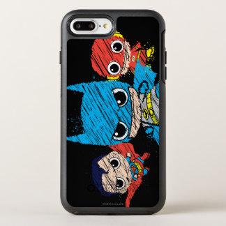Mini Justice League Sketch OtterBox Symmetry iPhone 7 Plus Case