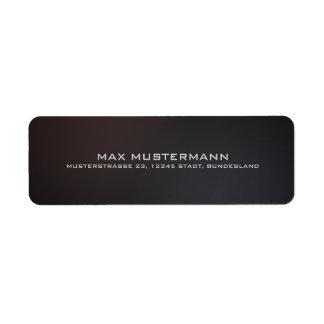 Mini Mali tables elegant modern back transmission Return Address Label