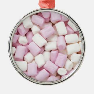 Mini marshmallows Silver-Colored round ornament