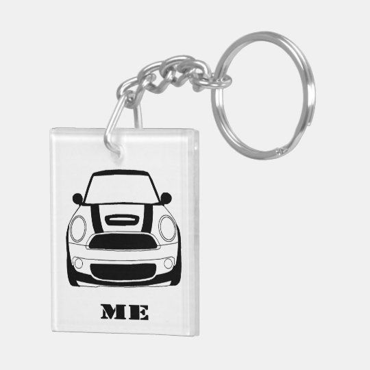 MINI Me Key Chain - 2 sided square