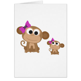 Mini me monkey card