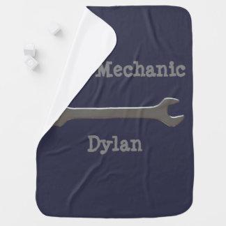 Mini Mechanic Baby Blanket
