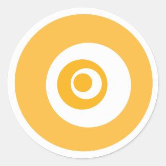 Mini Merit Badge Classic Round Sticker