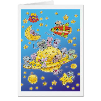 Mini Mice Lost in Space Card