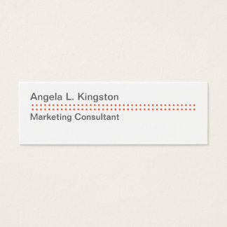 Mini modern micro dot cheery red gray custom mini business card