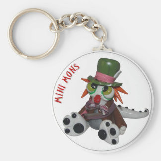 "Mini Mons ""Everyone's a little MAD"" Key-chain Basic Round Button Keychain"