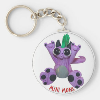 "Mini Mons ""Star struck"" Key-chain Basic Round Button Keychain"
