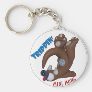 "Mini Mons ""Trippin"" Key-chain Basic Round Button Keychain"