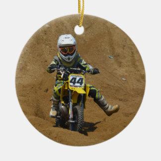 Mini Motocross Ceramic Ornament
