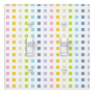 Mini Pastel Rainbow Squares Light Switch Cover