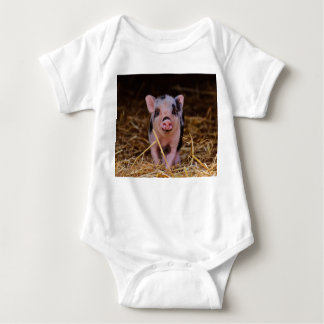 mini pig baby bodysuit