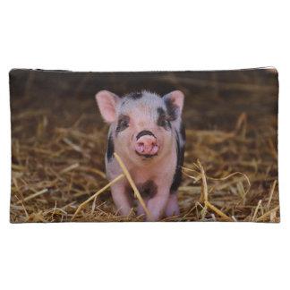 mini pig cosmetic bag