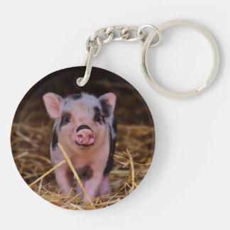 mini pig keychain