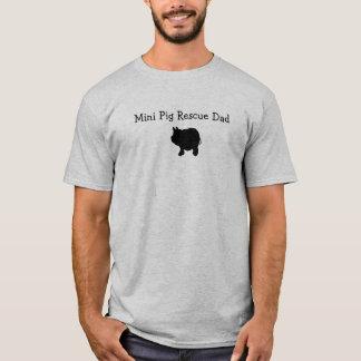 Mini Pig Rescue Dad T-shirt